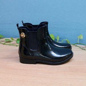 Michael Kors Rubber Ankle Chelsea Rain Boots Sz 6